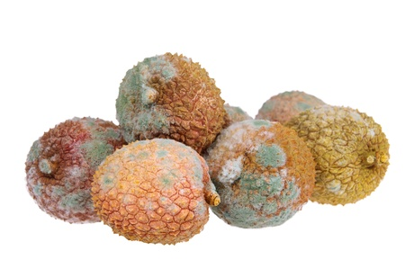 litschi: lychee spoiled  Stock Photo