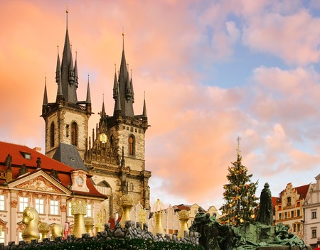 Prague christmas market  Editorial