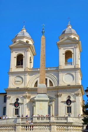 monti: Rome church Trinita dei Monti