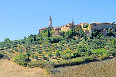 Pienza in fall  photo