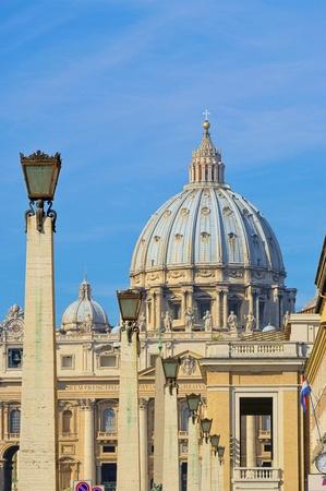 peters: Rome Papal Basilica of Saint Peter  Stock Photo