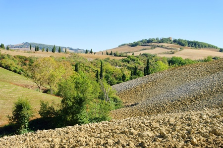 Tuscany hills in fall  photo