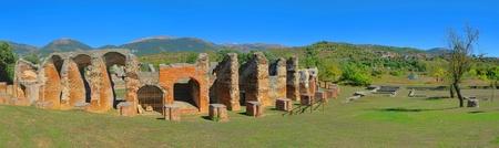 amphitheatre: Amiternum amphitheatre  Stock Photo
