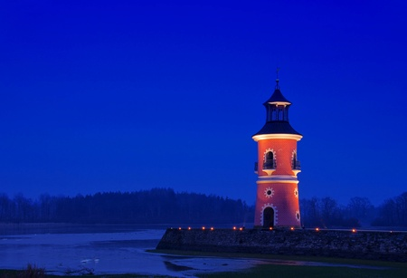 Moritzburg lighthouse night  photo