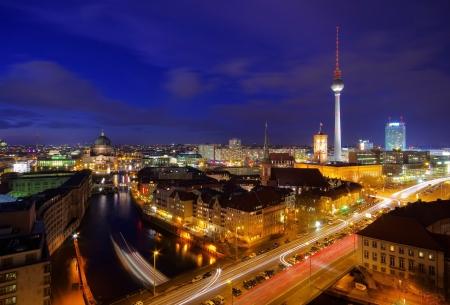 Berlín por noche 01 Foto de archivo - 16888573
