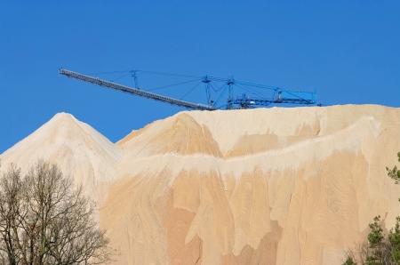 overburden: Zielitz potash salt dump 10 Stock Photo