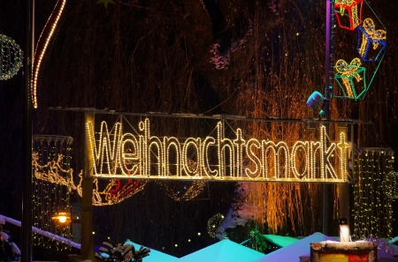 christmas market font photo
