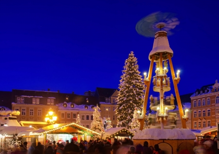 Annaberg-Buchholz Weihnachtsmarkt 18 Standard-Bild - 17690427