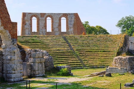 amphitheatre: Gubbio amphitheatre Stock Photo