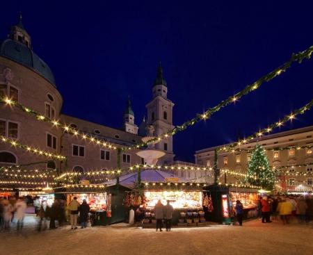 Salzburg christmas market 02 Stok Fotoğraf