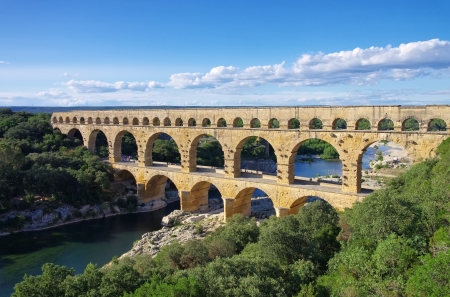 Pont du Gard 34 Stok Fotoğraf