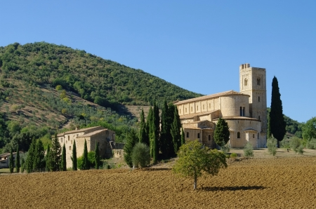 montalcino: Sant Antimo   Stock Photo