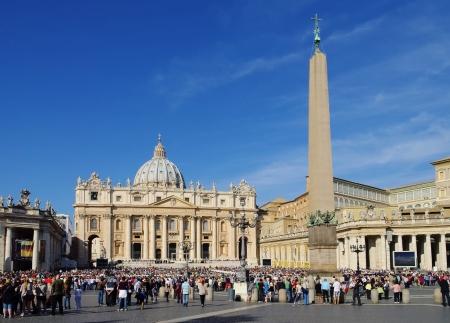 st  peter's basilica pope: Rome Papal Basilica of Saint Peter 05 Stock Photo