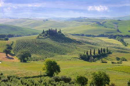 podere: Tuscany house in fog 05