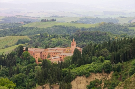abbazia: Monte Oliveto  Stock Photo