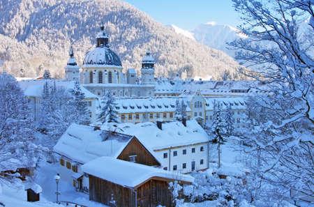 ettal: Ettal abbey in winter