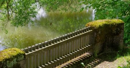 stockade: fence near water