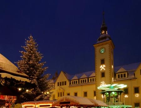 erz: Freiberg christmas market  Stock Photo