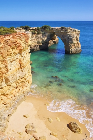 barlavento: Algarve beach Albandeira  Stock Photo