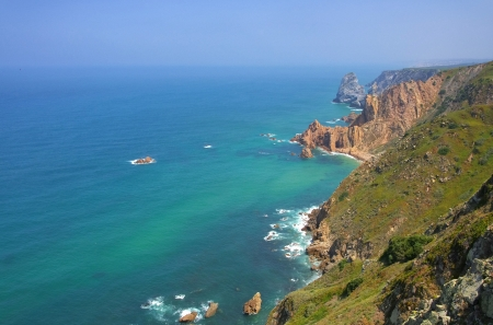 roca: Cabo da Roca coast  Stock Photo
