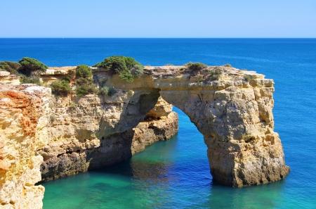 barlavento: Algarve beach Albandeira  Stock Photo