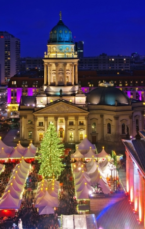 Berlin christmas market Gendarmenmarkt  photo
