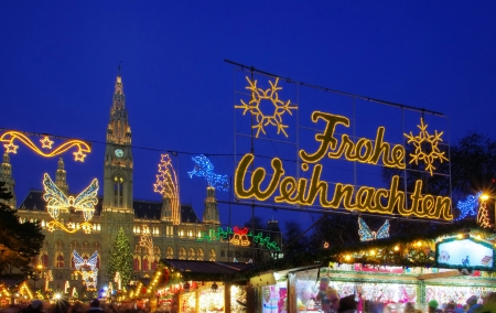 market hall: Vienna christmas market