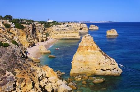 barlavento: Algarve beach marinha  Stock Photo