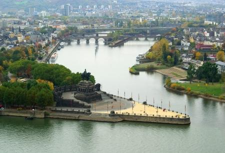 Koblenz esquina alemana Foto de archivo - 24943135