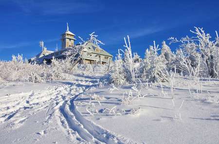 erz: mountain Fichtelberg  Stock Photo