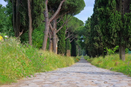 Rome Via Appia Antica Stockfoto