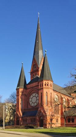 paulus: Dessau Paulus church  Stock Photo