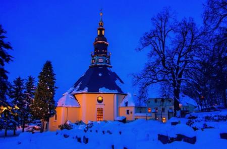 erz: Seiffen church in winter