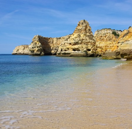 barlavento: Algarve beach marinha Stock Photo
