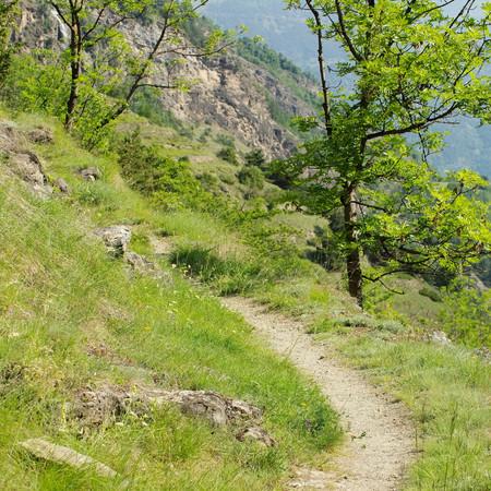 aosta: Aosta Valley hiking track