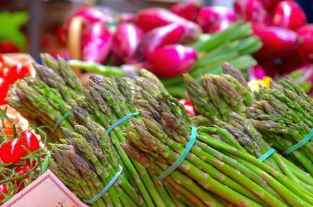 asparagus at the market photo