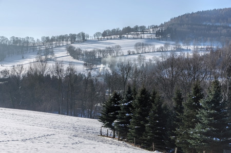 Erz: Ore mountains in Winter