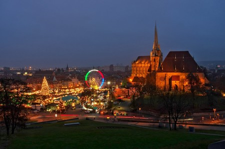 christmas market: Erfurt christmas market Editorial