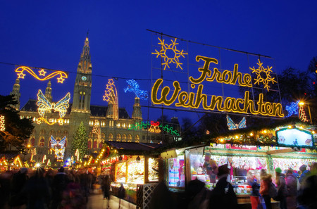 비엔나 크리스마스 시장 스톡 콘텐츠