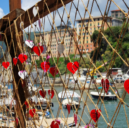 fishingnet: Camogli fishing net Stock Photo