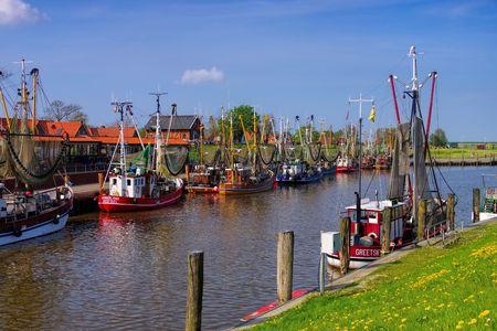 shrimp boat: Greetsiel Harbour Editorial