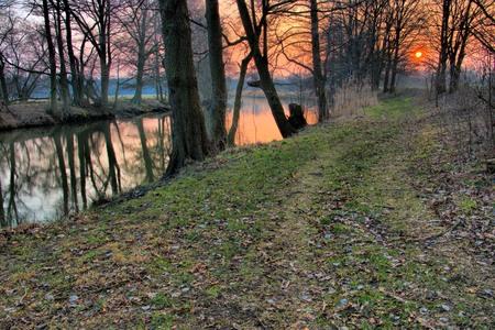 spree: Spree river in winter