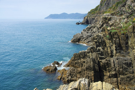 cinque: Cinque Terre Riomaggiore coast