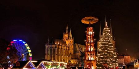 christmas market: Erfurt Christmas Market Stock Photo