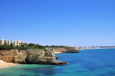 rocha: Algarve beach da Senhora da Rocha Stock Photo