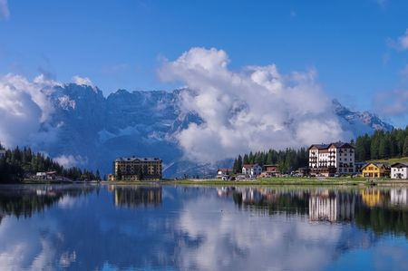 lake misurina: Lake Misurina in Dolomites, Italy