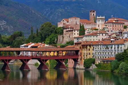 grappa: Bassano del Grappa Ponte Vecchio in northern Italy