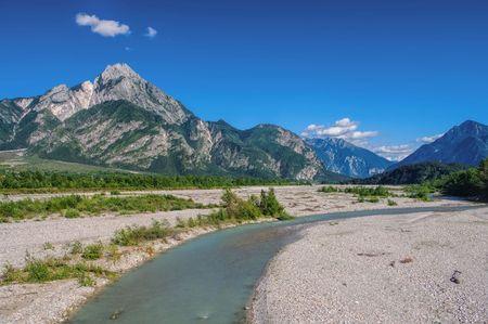northern european: Tagliamento, The Last Wild River in European Alps, Northern Italy