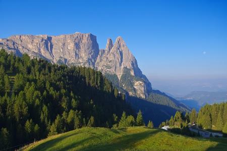 alto adige: mountain Schlern in Alto Adige, italian Dolomites