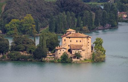 castel: Toblino Castel in Trentino, northern Italy Editorial